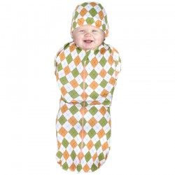 Cuddle Me Hybrid Swaddle Pod - Diamond Orange