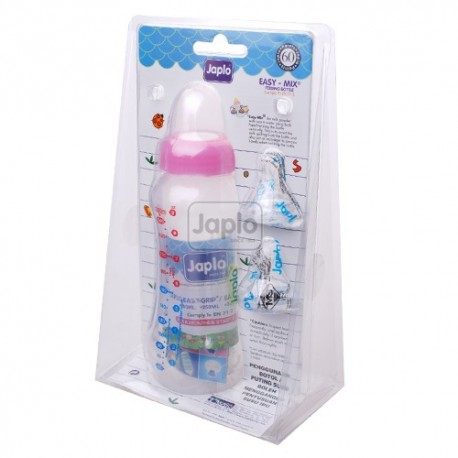 Japlo Easy Grip Bottle (250ml) with 2 Silicone Nipples