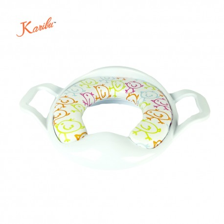 Karibu Cushion Potty Seat with Handle (White)