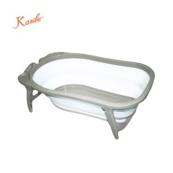 Karibu Folding Bath Tub(Gray)