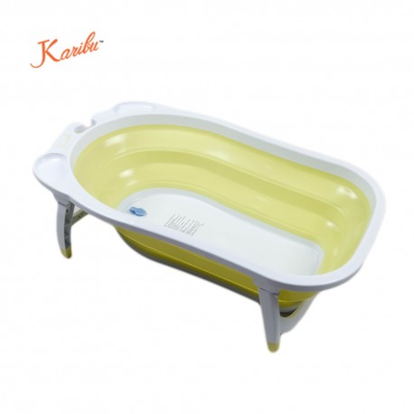 karibu folding bath tub yellow bathing. Black Bedroom Furniture Sets. Home Design Ideas