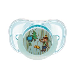 Farlin Chu Chu Pacifier with Chain Set-Orthodontic (Blue)