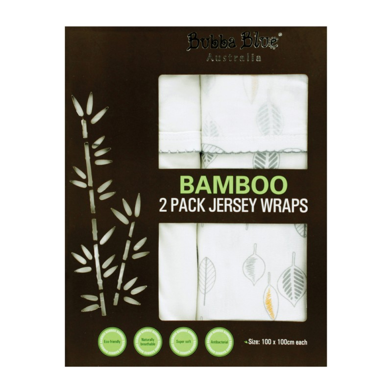 bfd9da853 Bubba Blue Bamboo Leaf 2 PK Jersey Wraps. Loading zoom