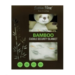 Bubba Blue Bamboo Leaf Cuddle Security Blanket