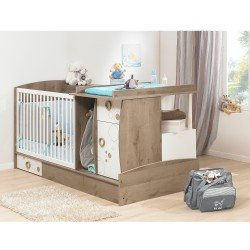 Galipette OXYGENE Compact Convertible Cot Bed