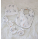 Bubba Blue Bamboo Leaf 4 PC Layette Set
