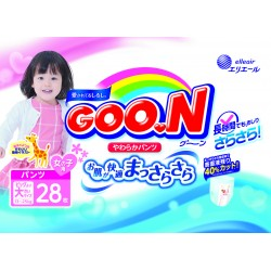GOO.N JV Pants XXL28 Girls 4-Pack + FREE Water Pocket Lotion Tissue