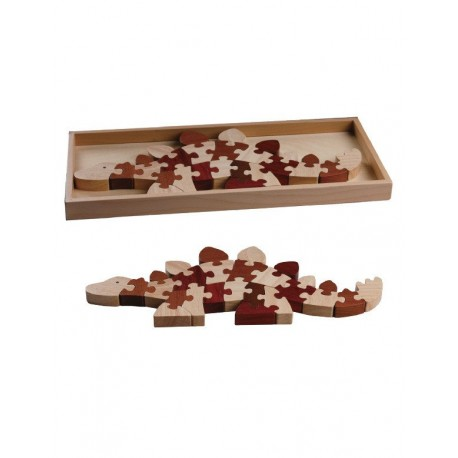 Magic Forest Red Wood Puzzle Series - Stegosaurus Puzzle