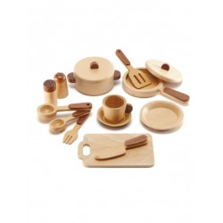 Magic Forest Toy  Red Wood Set Series - Kitchen Set (15 pieces)