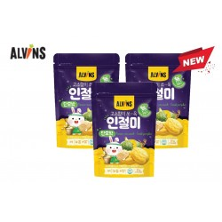 "ALVINS Korean Rice Snack ""Injeolmi""  (Sweet Pumpkin) x 3 Pkt"