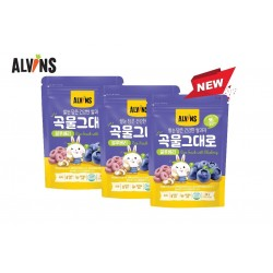 ALVINS Korean Rice Snack (Blueberry) x 3 Pkt