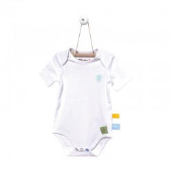Snoozebaby Shortsleeve Romper in White