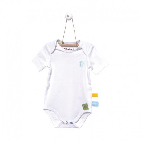 Snoozebaby Shortsleeve Romper in White - 0 months