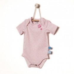 Snoozebaby Short sleeve Romper in Pink dot