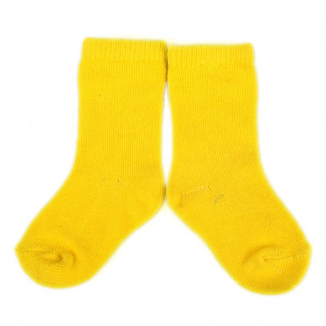PLUSH® Stay on socks (0-2yrs) - Yellow