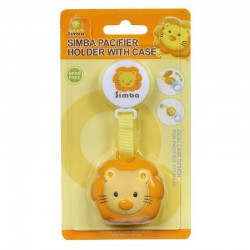 Simba Pacifier Holder with Case (Yellow)