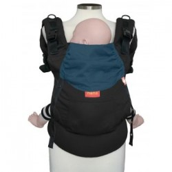 Hana Baby Organic Carrier - Black/ Dark Petrol