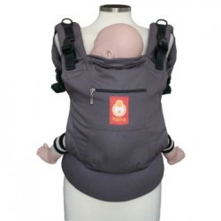 Hana Baby Organic Carrier - Dark Taupe/Grey