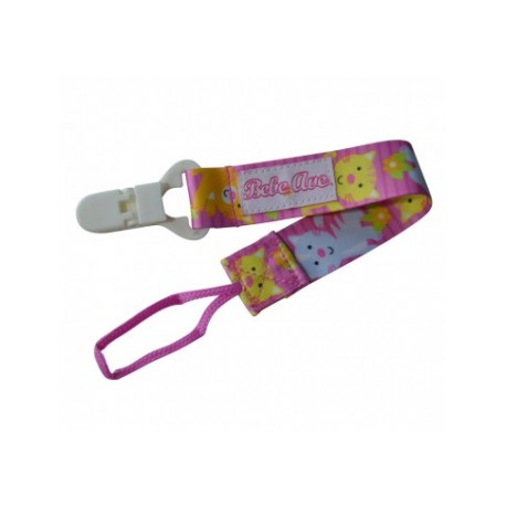 Bebe Avenue Pacifier Holder - Pink Kitty