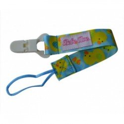 Bebe Avenue Pacifier Holder - Blue Duckling