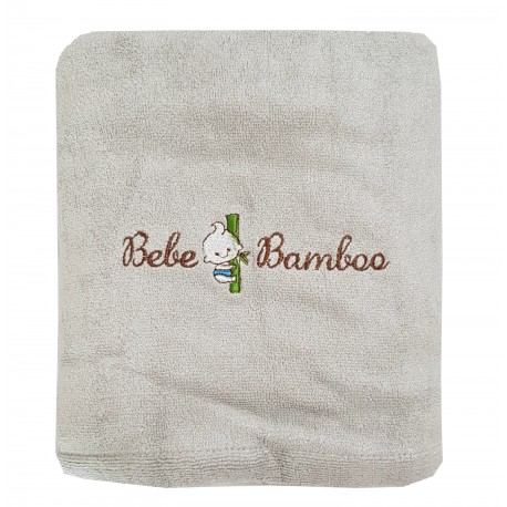 Bebe Bamboo 100% Bamboo Adult Bath Towel Grey
