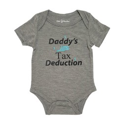 Bebe Bamboo Cute Saying Onesie - Daddy's Little Tax Deduction