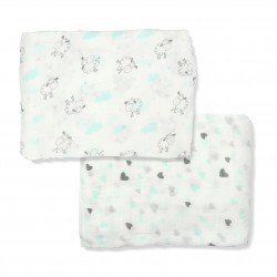 Bebe Bamboo 100% Bamboo Muslin Swaddle - Sheep in Love