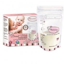 Autumnz Double ZipLock Breast Milk Storage Bag (25 bags/Box)-5oz/7oz/12oz-(1 box) *BPA FREE*